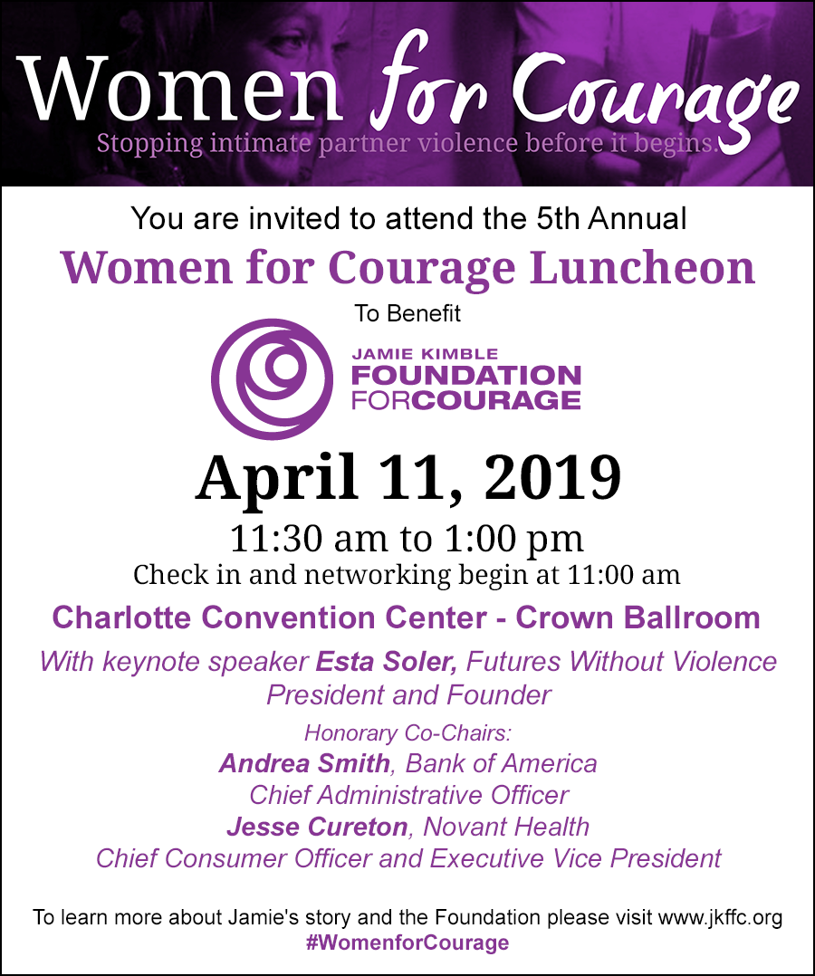 Women For Courage Luncheon Jamie Kimble Foundation For Courage