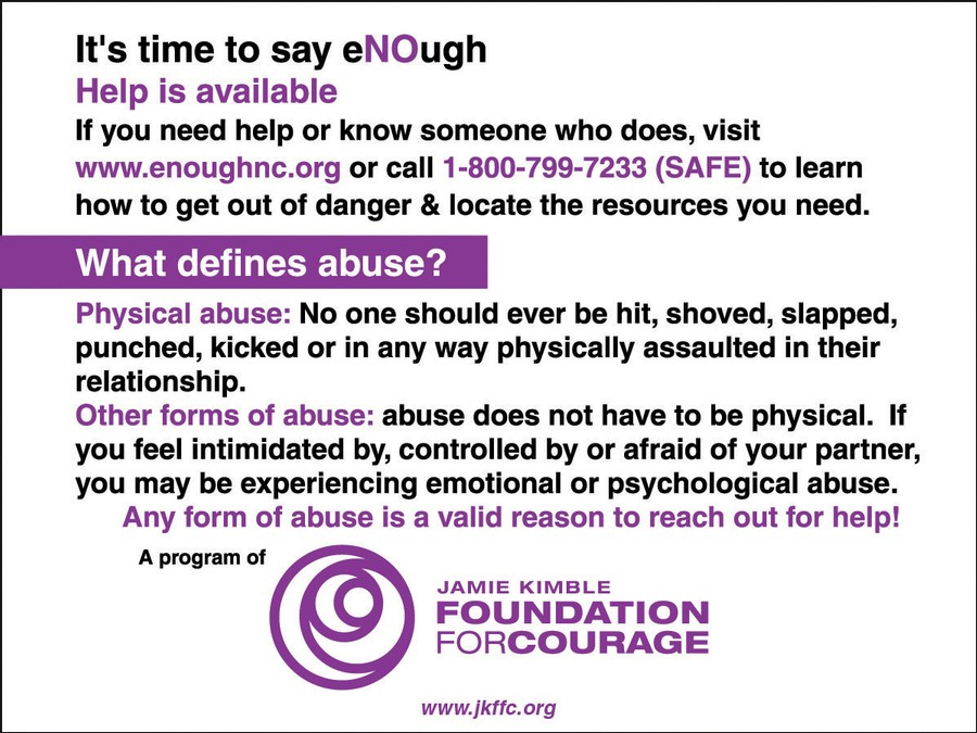 Abuse Awareness- Helping others  in our communities &  breaking stigma Warning-signs-back